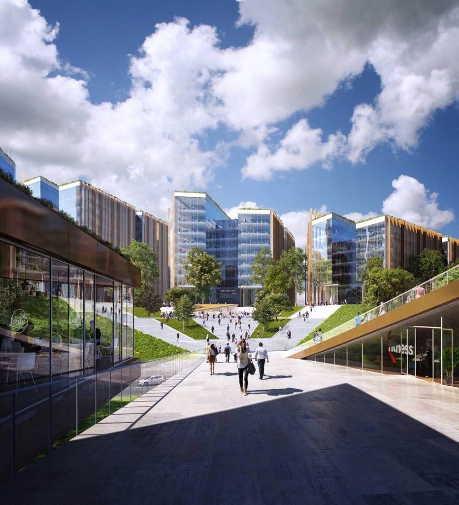 An artist's impression of the Newlands Park development