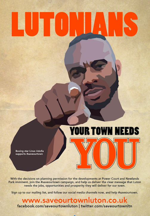 Lutonians - your town needs YOU, says Linus Udofia