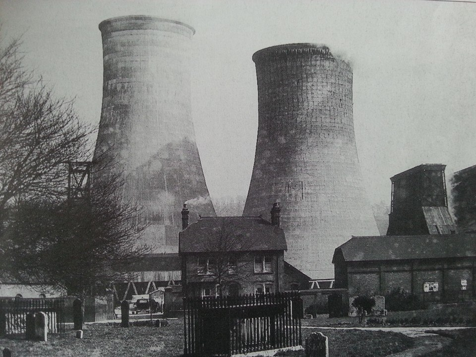 The industrial cooling towers that were once at Power Court