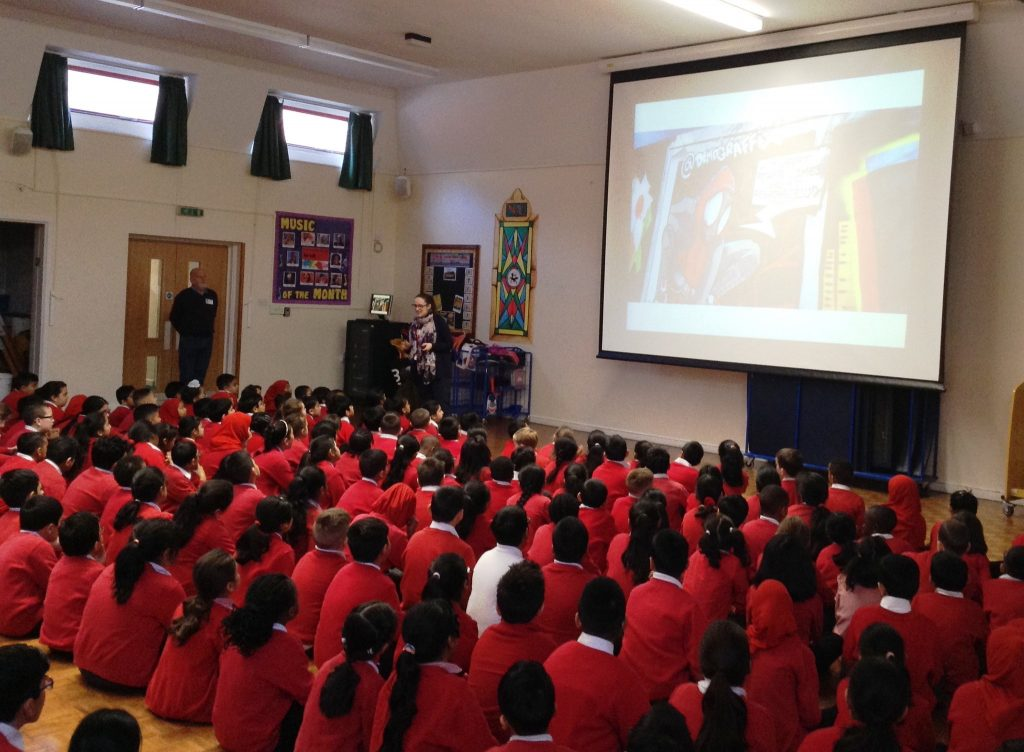 The #saveourtown assembly at Dallow Primary School in Luton
