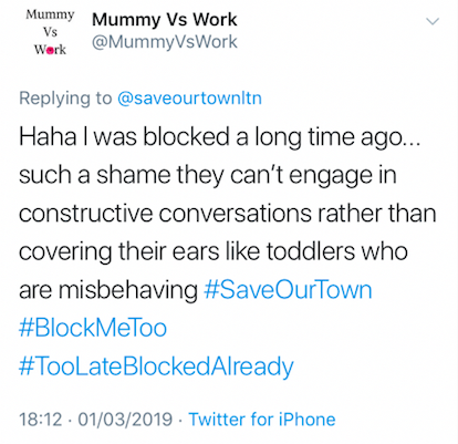 Mummy Vs Work's tweet about Capital & Regional