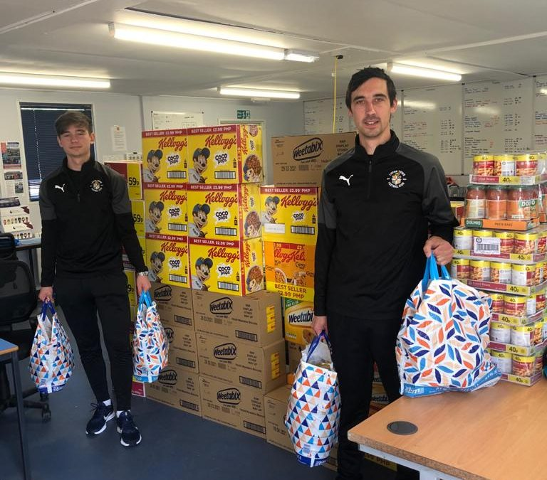 Luton heroes: Hatters Community Trust staff raise money to feed families